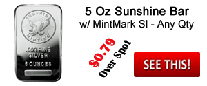 Sunshine 5 Ounce Silver Bar