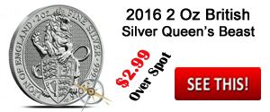 British 2 Ounce Queen's Beast Silver Coin