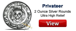Privateer 2 Ounce Silver Rounds