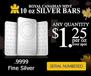 RCM 10 Ounce Silver Bars Ad