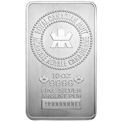 Image of RCM 10 Oz Silver Bar Obverse