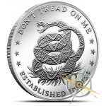 Don't Tread on Me 1 Ounce Silver Round