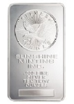 Picture of Sunshine Mint 10 Ounce Silver Bar