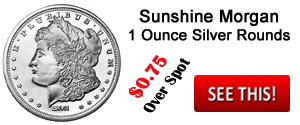 1 Ounce Sunshine Minting Morgan Silver Round